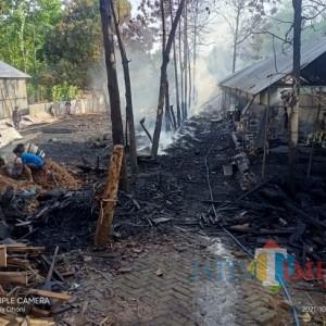 Pabrik Pengolahan Kayu Jati di Ngawi Ludes Terbakar, Korban Merugi Ratusan Juta