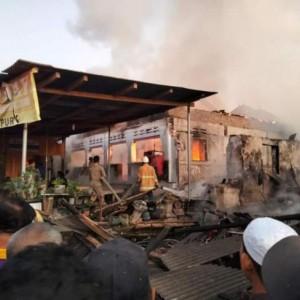 Rumah Sewa PS Terbakar, 14 Unit TV dan PS Ludes Dilalap Api