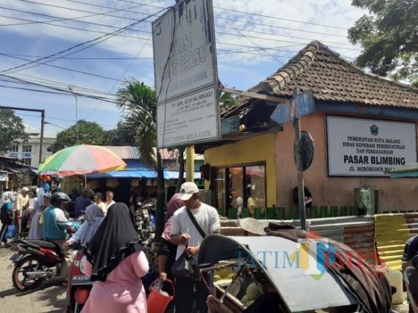 Suasana Pasar Blimbing sebelum pandemi Covid-19. (Foto: Arifina Cahyanti Firdausi/MalangTIMES).
