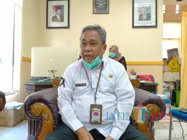 Kepala Dinas Kesehatan (Dinkes) Kabupaten Sumenep, Agus Mulyono sewaktu ditemui di ruang kerjanya (Foto: Ist/JatimTIMES)