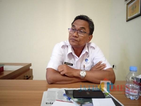 Kepala Diskominfo Bangkalan Agus Zain Saat Ditemui Dikantornya (Foto: Dok. BangkalanTIMES)