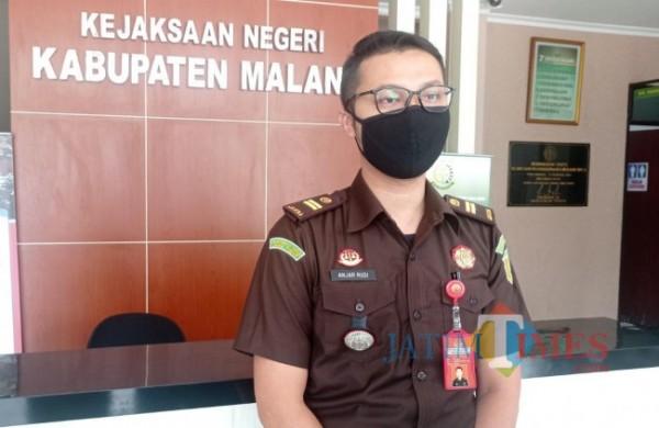 Kepala Sub-Seksi (Kasubsi) Eksekusi dan Eksaminasi Kejari Kabupaten Malang Anjar Rudi Admoko (foto: Hendra Saputra/MalangTIMES)