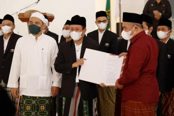 Pelantikan PCNU Kota Kediri masa khidmah 2021/2026. (Foto: Dok Pemkot Kediri)