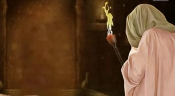 Ilustrasi sosok Fulan yang telapak tangannya terbakar. (Ist)