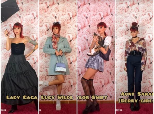 Inspirasi Dressing My Lookalikes ala artis ternama dunia. (Foto: @evelilycp).