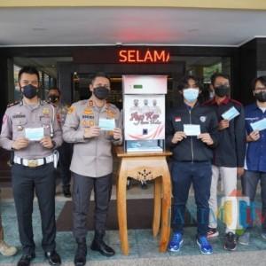 Dispenser Masker, Inovasi Hasil Kerja Sama Polresta Malang Kota dan Fakultas Teknik Universitas Brawijaya