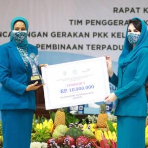 TP PKK Kota Kediri Raih Terbaik I Kategori Lingkungan Bersih dan Sehat