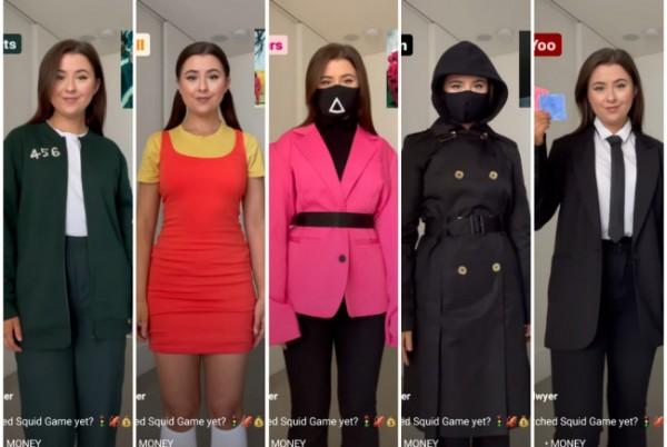 Inspirasi outfit ala Drama Korea Squid Game. (Foto: Instagram @erika.dwyer).