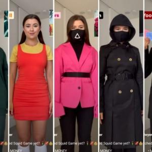 Tampil Beda dengan Outfit Inspired Drakor Squid Game, Seram atau Lucu Nih?