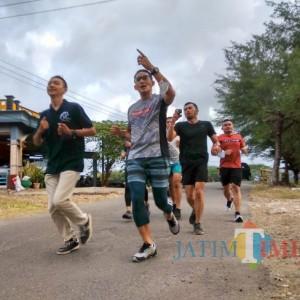 Kunjungi Desa Wisata Serang, Sandiaga Uno Sempatkan Menginap dan Lari Pagi