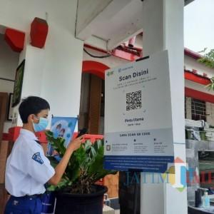 Cegah Penularan Covid-19, 9 SMP di Kota Blitar Terapkan Aplikasi Peduli Lindungi