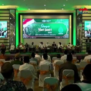 Momentum HSN 2021, PWNU Jatim Terima Rp 450 Juta untuk Pembangunan Menara 17