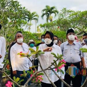 Kunker ke Kota Blitar, Mensos Risma Bakal Bantu Pemkot Blitar Perbaiki Makam Bung Karno