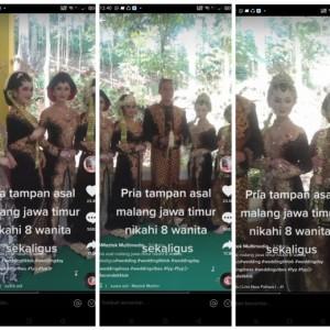 Video Viral Pria Nikahi 8 Wanita, Ini Tanggapan Kemenag  Kota Malang