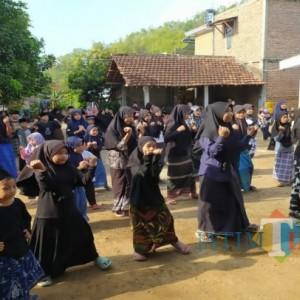 Peringati Maulid Nabi dan Hari Santri, Madrasah Diniyah Tiudan Gelar Senam dan Kenduri