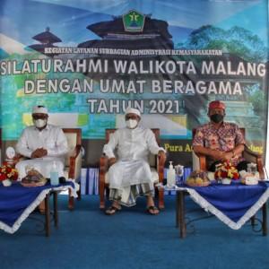 Perkuat Toleransi, Wali Kota dan Wawali Kota Malang Sambang ke Berbagai Umat Beragama